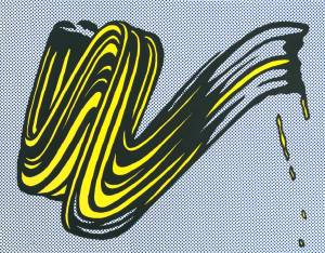 Brushstroke 1965 by Roy Lichtenstein 1923-1997