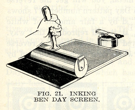 Ben Day screen inked