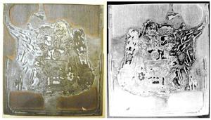 Zinc plate 1879 x2