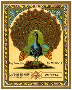 Peacock textile label UK