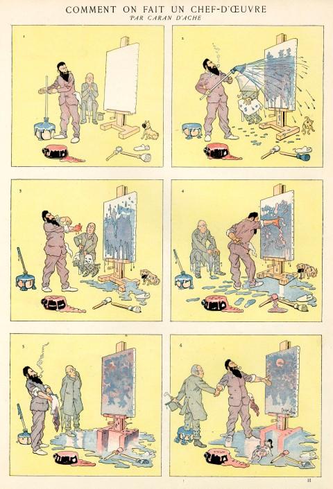 Caran D'Ache comic strip_Chef D'Ouevre