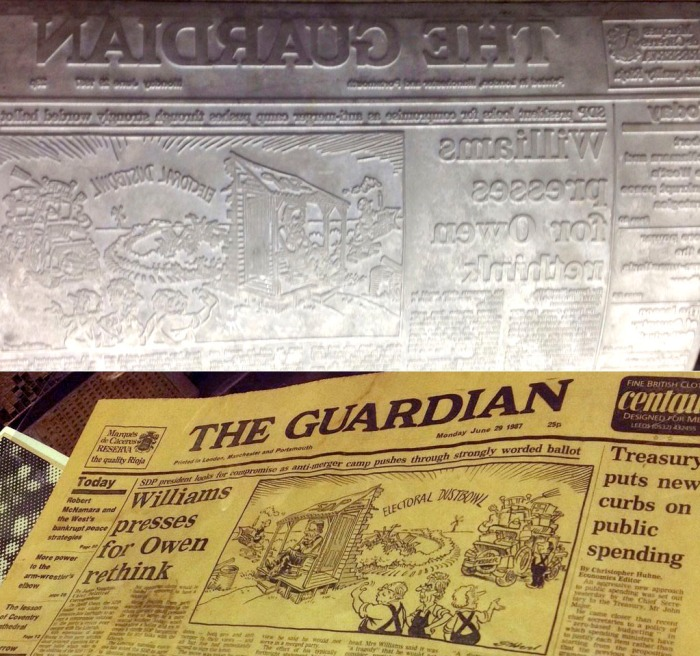 Guardian page & plate