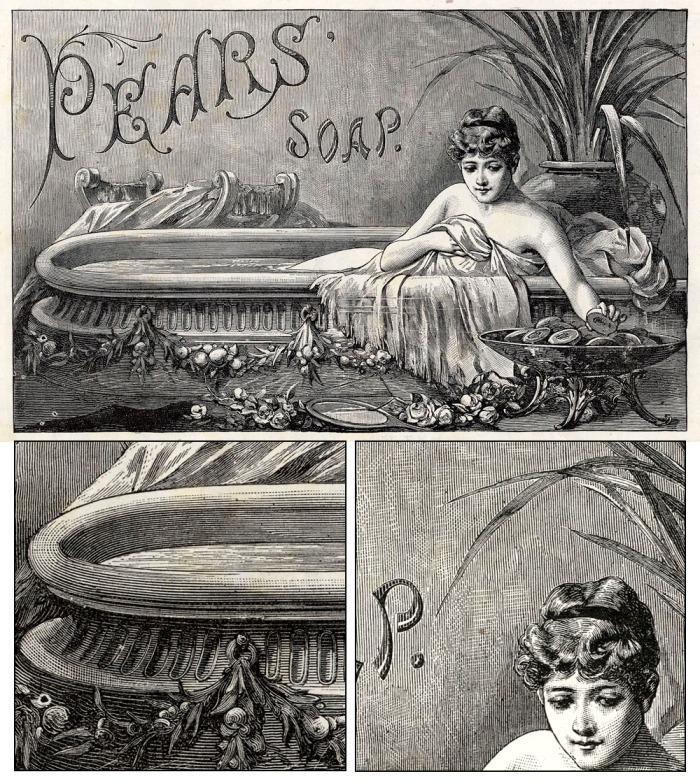 Pears Soap 1886 ILN w details