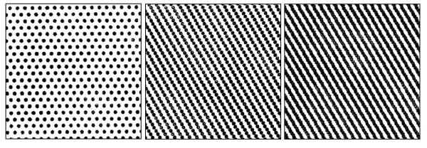 400sq Offset dots made into lines