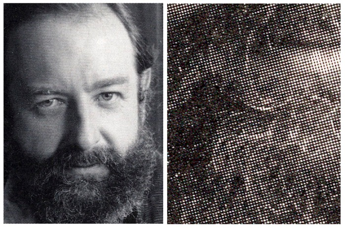 Michael Moorcock 1986 with beard close up