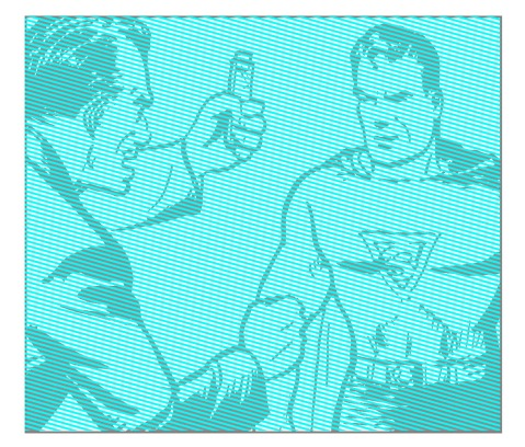 1 SUPES BLUE Lightbox with blue lines