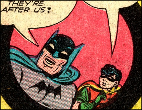 Batman and Robin, 1941 style. Contains Craftint.